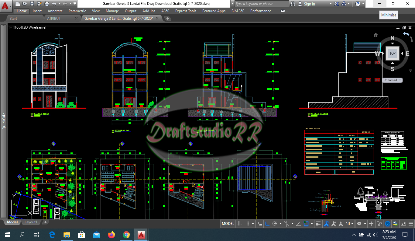 Gambar Gereja 3 Lantai File Dwg Download Gratis